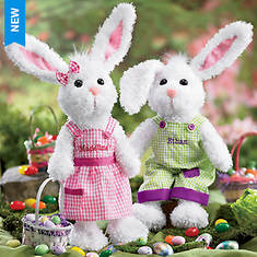 Personalized Floppy-Eared Bunny - Girl