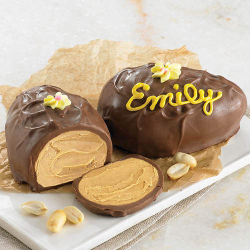 Personalized Peanut Butter Chocolate Egg