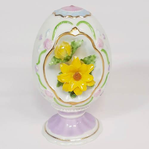 Floral Porcelain Egg