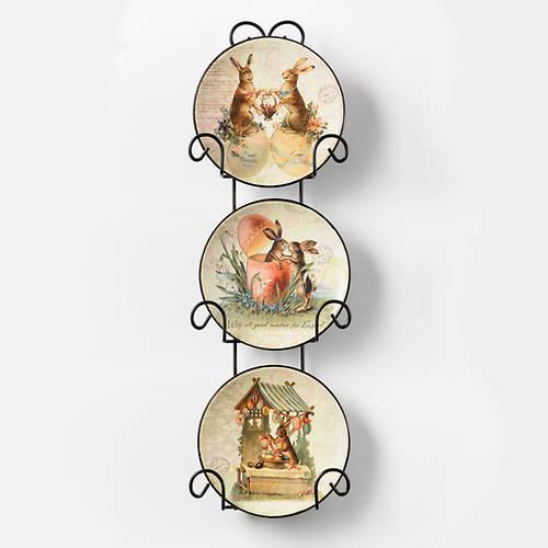 Vintage Bunny Plate Set