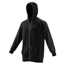 Adidas Men's Essentials Cotton Fleece 3-Stripe FZ Hoodie