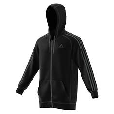 Adidas Men's Essentials Cotton Fleece 3-Stripe FZ Hoodie