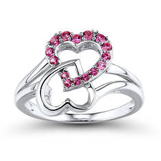Double Heart Infinity Ring