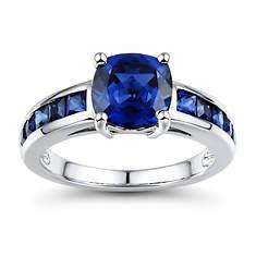Lab Sapphire Ring
