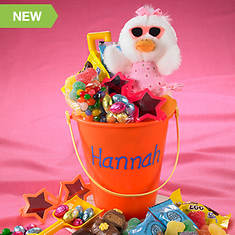 Personalized Easter Treat Pail - Orange