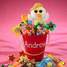 Personalized Easter Treat Pail - Red