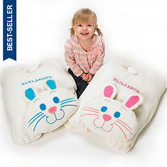 Cuddle Bunny Floor Pillow - Blue