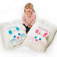Personalized Cuddle Bunny Floor Pillow - Pink