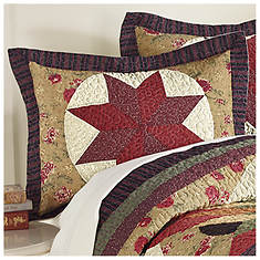 Kentucky Star Quilted Sham