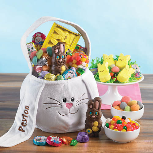 Personalized Bunny Basket and Candy to Go