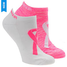 Under Armour Women's Power in Pink 2.0 No Show Socks