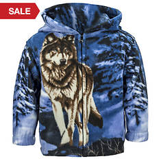 Kids' Trail Crest Animal-Print Fleece Jacket