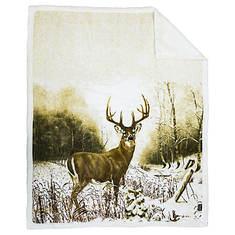 Animal-Print Reversible Throw