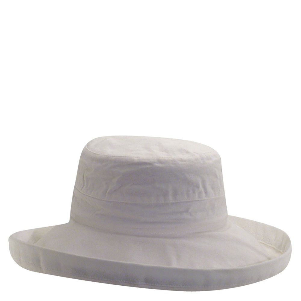 9a0a2edc Scala Women's Cotton 4 Inch Brim UPF 50 Travel Sun Hat White | eBay