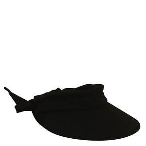 Scala Collezione Cotton Visor Bow Hat