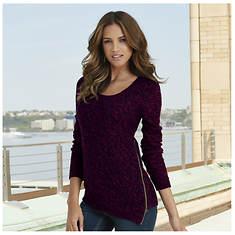 Marled Zipper Sweater