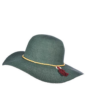 Scala Collezione Women's Big Brim Wood Beads Hat