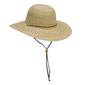 Scala Raffia Women's Crocheted Raffia Big Brim Hat