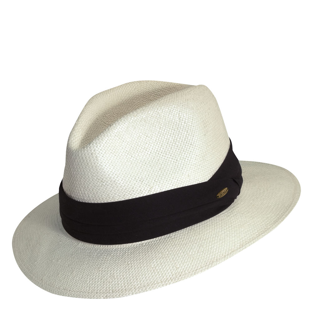 1920s Mens Clothing Scala Classico Mens Toyo Cotton Band Safari Hat Bone Hats SM $52.95 AT vintagedancer.com