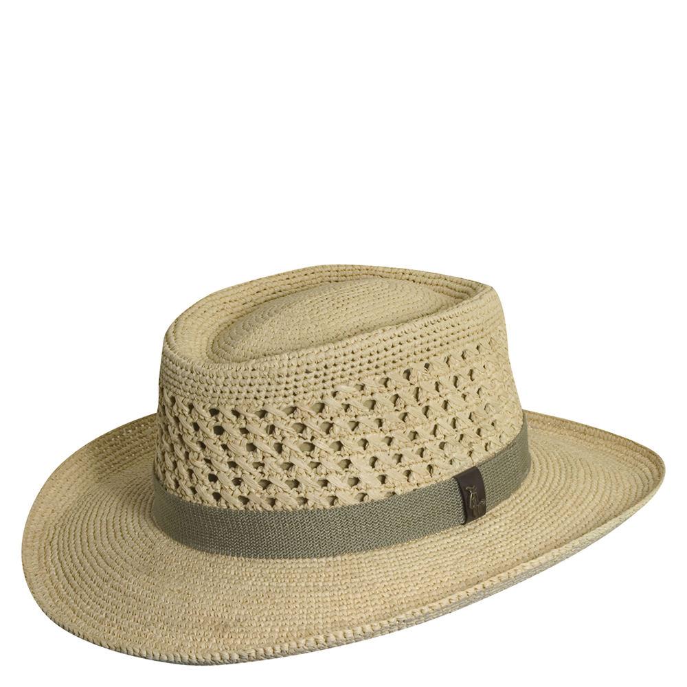 625bf5293 Details about Scala Pro Series Men's Fine Raffia Golf Gambler Hat