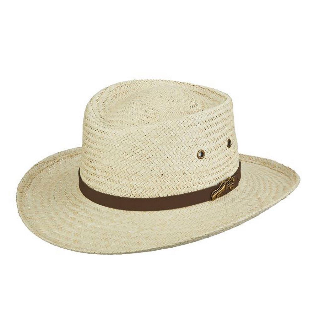 Gambler Straw Hat: Scala Pro Series Men's Palm Golf Gambler Hat