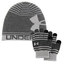 Under Armour Boys' Beanie Glove Combo