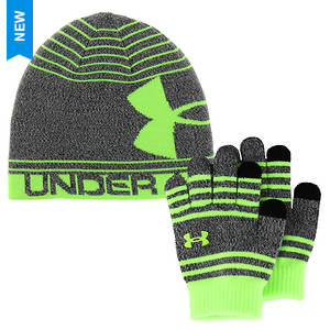 Under Armour Boys' Beanie Glove Combo