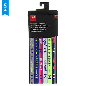Under Armour Girls' 6-Pack Graphic Headbands