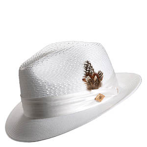 Stacy Adams Men's Pinch Front Open Weave Fedora