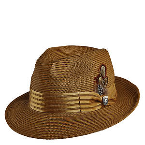 Stacy Adams Men's Pinch Front Poly Braid Fedora