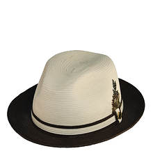 Stacy Adams Men's Two Tone Pinch Front Fedora