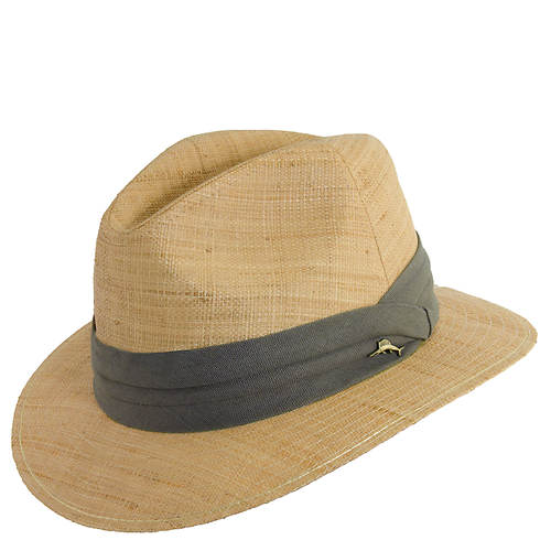 Tommy Bahama Men's Matte Raffia Pleat Band Safari Hat