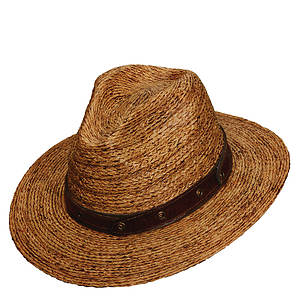 Tommy Bahama Men's Raffia Leather Band Outback Hat