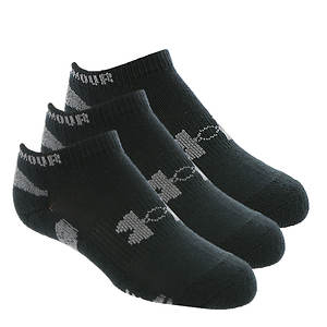 Under Armour Boys' 3-Pack Heatgear No Show Socks