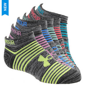 Under Armour Girls' Essential Twist 2.0 No Show Socks
