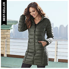 Long Packable Down Coat