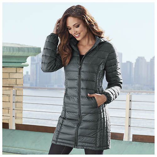 Long Packable Down Coat