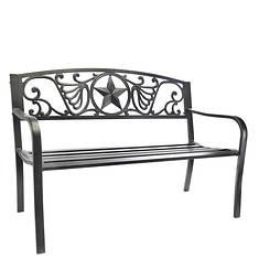 Lonestar Steel Park Bench