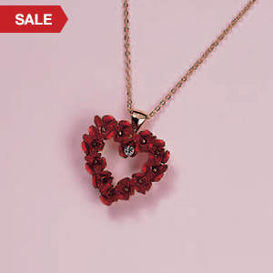 Heart of a Dozen Roses Necklace