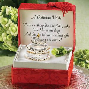 Miniature Glass Birthday Cake