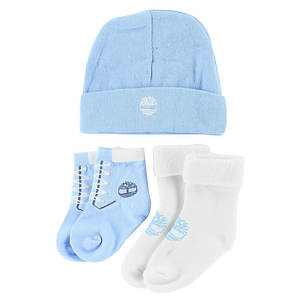 Timberland Boys' THG3003 Baby Bootie and Beanie Gift Set