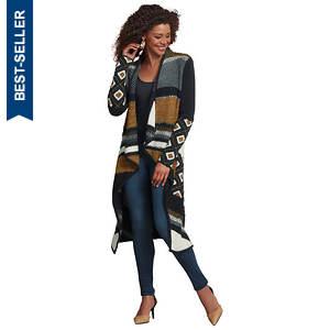 Geometric Sweater Coat