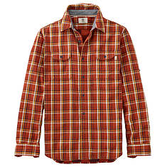 Timberland Men's Long Sleeve Double Layered Plaid Shirt