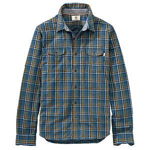 Timberland Men's Long Sleeve Double Layered Plaid Shirt
