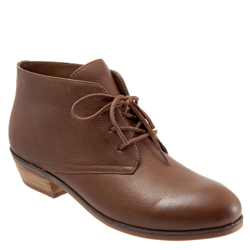 Retro Boots, Granny Boots, 70s Boots Soft Walk Ramsey Womens Tan Boot 8 N $124.95 AT vintagedancer.com