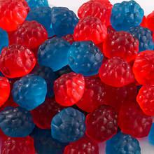 Sweet Cravings Snack Tins - Red & Blue Raspberry Blast Gummies
