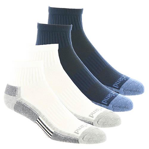 Timberland TM3134A Low Quarter Socks 4-Pack (Men's)
