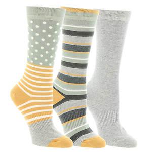 Timberland TW31653 Dot Stripe Crew Socks 3-Pack (Women's)