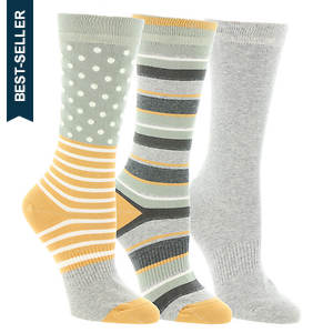 Timberland TW31653 Dot Stripe Crew Socks 3-Pack (Women's)