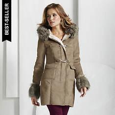 Suede Toggle Coat